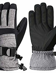 cheap -ski gloves, touchscreen 3m thinsulate waterproof tpu membrane women's winter gloves with non-slip pu palms, zippered pocket and adjustable wrist for skiing, snowboarding, climbing and skating