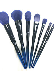 cheap -Makeup Brush Set 7 Gradient Blue Colorful Groove Makeup Brushes