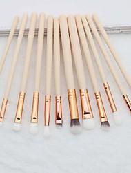 cheap -12 Pcs rose gold makeup brush set eye shadow brush eye makeup brush set beauty tools