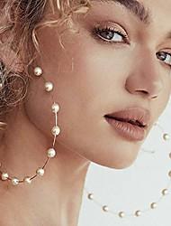 cheap -huge gold hoop earrings pearls circle earrings for women girl lady wedding fashion womens jewelry (gold)