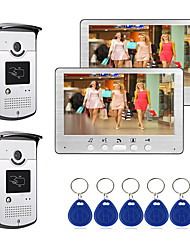 cheap -Wired 7 inch Hands-free Monitor Video Doorphone Intercom System with Infrard Night Vision Camera RFID Unlock Function