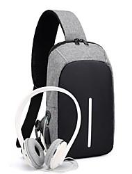 cheap -Men's Bags Oxford Cloth Sling Shoulder Bag Chest Bag Zipper Daily Outdoor 2021 MessengerBag Black Blue Gray