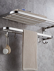 cheap -Towel Bar Foldable / New Design Modern Stainless Steel 1pc Double Wall Mounted