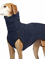 cheap -warm pet clothes winter dog coat soft shirt vest for small medium large dogs (l,navy blue)