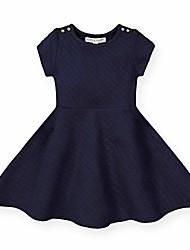 cheap -girls' quilted matelasse dress navy
