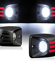 cheap -2Pcs 2W 6500K LED RED  White  LED License Plate Light  For 1995-2004 Toyota Tacoma