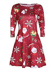 cheap -Women's Black+White Black and Red 3#orange Red Black Dresses&Skirts Christmas S M L XL XXL XXXL