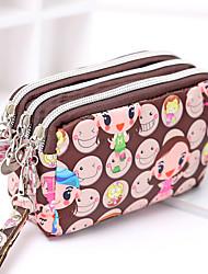 cheap -multifunction 3 layers zipper wallet handbag nylon crossbody shoulder bags storage purse mini cellphone pouch case wrist bag with shoulder strap