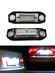 cheap -2Pcs 2W 12V 6500K  Car 18LED License Plate Light Assembly For Volvo S80 XC90 S40 V60 XC60 S60 C70 V50 XC70 V70