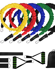 cheap -Resistance Band Set Suspension Trainer Basic Kit 11 pcs 5 Stackable Exercise Bands Door Anchor Legs Ankle Straps Sports Latex Home Workout Gym Workout Exercise & Fitness Adjustable Non Toxic Stretchy