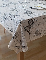 cheap -Table Cloth Cotton Dust-Proof Country Patterned Table Cover Table decorations for Daily Wear Rectangular