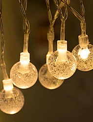 cheap -2pcs 1pcs Holiday Party Decor Light String 6m 40 LED Crystal Clear Ball Fairy String Light Wedding Party Outdoor Decor Lamp