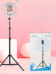 cheap -10 inch Photo Led Self Timer Ring Lamp 26 cm Dimming Camera Telephone Ring Lamp with Tripod for Makeup Video Live Studio 1.6m Photo Lamp Set