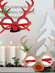 cheap -Christmas Toys Photo Booth Props Christmas Glasses Elk Santa Claus Decoration Party Favors Plastic 2 pcs Kid's Adults 16cm*18cm*0.3cm Christmas Party Favors Supplies