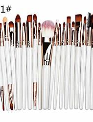 cheap -20 pieces makeup brush set professional face eye shadow eyeliner foundation blush lip makeup brushes powder liquid cream cosmetics blending brush tool (3#)