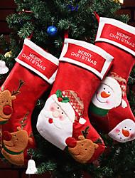cheap -Elk Snowman Old man Christmas Decoration Gift Bag Pendant Gift Bag Socks Hanging Christmas Candy Storage Socks