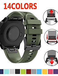 cheap -Watchband for Garmin Fenix 6X 5X 5 5S Plus 3 3 HR Forerunner 935 Watch Quick Release Silicone Easy fit Wrist Band Strap 26mm 22mm 20mm 15colors