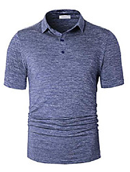 cheap -fresh men& #39;s classic athletic casual collared dry fit short sleeve golf shirts outdoor sports polyester breathabletshirts heather sapphire x-large