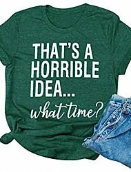 Недорогие -женская футболка с плохими решениями, это ужасная идея, в какое время футболка с забавным рисунком, наряд, топы, зеленый