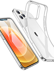 cheap -Phone Case For Apple Back Cover iPhone 12 Pro Max 11 SE 2020 X XR XS Max 8 7 6 Shockproof Water Resistant Transparent Transparent TPU