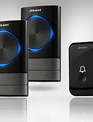 cheap -3Pcs Smart Wireless Doorbell 45 Songs Polyphonic Ringtones & 200m Transmission One To Two
