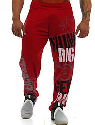 cheap -Men's Active wfh Sweatpants Pants - Solid Colored Black Red M L XL