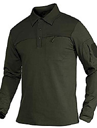 cheap -polo t shirts for men with pocket long sleeve tactical shirts quick dry lightweight golf polo shirts summer shirts solid shirts green