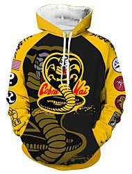 cheap -Inspired by Cobra Kai the Karate Kid Cobra Kai Cosplay Costume Hoodie Terylene Print Printing Hoodie For Men's / Women's