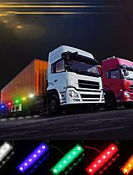 cheap -dc12v/24v 6 leds side marker indicator light lamp smd2835 ip65 water resistance for truck bus trailer rv car