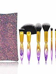 cheap -makeup brush set tools make-up toiletry kit fiber cosmetic brush 7 in 1 (color : gradient)