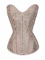 cheap -women's waist trainer corset underbust lace bow bandage waist trainer corsets shapewear body shaper (xl, beige)