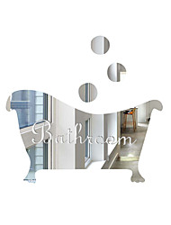 cheap -Bathtub Shape Wall Stickers  Still Life Wall Stickers Mirror Wall Stickers Decorative Wall Stickers, Acrylic Home Decoration Wall Decal Wall Decoration 1pc