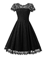 cheap -black gothic lace dresses for women 50's wedding prom floral vintage black size 4-6