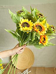 cheap -1 Branch Artificial Flower Polyester Wedding Flowers  Tabletop Flower Sunflowers Simulation Flowers 25*63.5cm