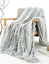 cheap -Solid Color Comfort Luxury Faux Fur Throw Blanket - Ultra Soft and Fluffy - Plush Throw Blankets for Couch Bed and Living Room - Fall Winter and Spring