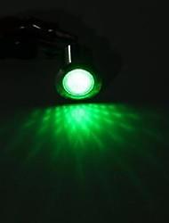 cheap -12v 19mm metal led dashboard panel warning indicator light lamp - green