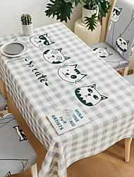 cheap -Thick Waterproof Tablecloth Square Tablecloth Decorative Kitchen Rectangular Tablecloth Bamboo Flower 1 pc