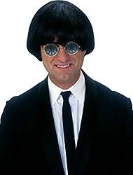cheap -men's yeah wig, black, standard
