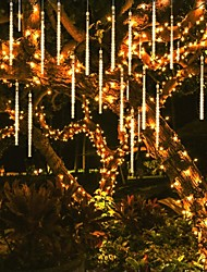 cheap -Meteor Shower Rain Lights Waterproof 30cm 8 Tubes Holiday Raindrops LED Marquee String Lights for Indoor Outdoor Gardens Christimas Party Tree Wedding