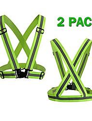 cheap -reflective bands for wrist 6 pack adjustable elastic running gear hi vis suspenders vest for biking, walking, jogging, motorcycle,cycling high visibility reflective gear (6 pcs reflective bands)