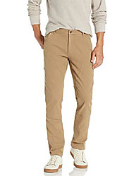 cheap -amazon brand - men& #39;s skinny-fit carpenter pant, khaki 28w x 28l