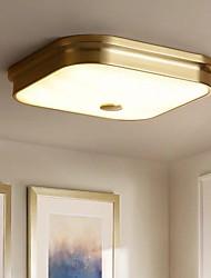 cheap -40 cm Square Ceiling Light Gold Nordic Style Flush Mount Light Metal Modern 110-120V 220-240V