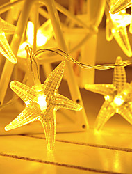 cheap -1.5m 10LEDs 3m 20 LEDs Fairy Star String Lights LED Garland Lights Battery Powered Christmas Lantern Outdoor Garden Wedding Girls Room Decoration Delivery Without Battery