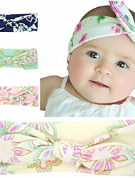cheap -1pcs Toddler / Infant Girls' Basic Blue Floral Printing Spandex / Cotton Hair Accessories Blushing Pink / Navy Blue / Beige One-Size