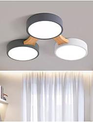 cheap -3/4/5 Heads LED Ceiling Light Nordic Style Flush Mount Wood Painted Finishes Modern Basic 110-120V 220-240V