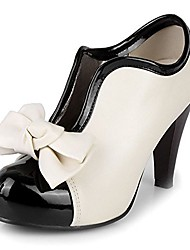 cheap -platform pumps high heels ankle boots party wedding shoes with bow size us3-12 (10 b(m) us, cream)