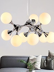 cheap -75 cm Sputnik Design Chandelier Pendant Light Nordic Style Cluster Design Silver Black Metal Electroplated Painted Finishes 110-120V 220-240V
