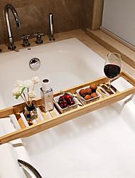 cheap -Bathtub Shelf Bamboo Wood Bath Caddy can Storage Book,iPad or Wine Glass Holder Bathroom Organizer Tray Non-Slip