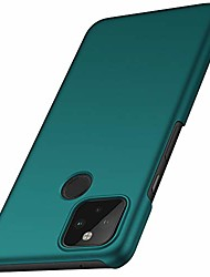 cheap -anccer colorful series for google pixel 5 case ultra-thin premium pc material slim cover for google pixel 5 (2020) - green