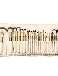 cheap -hoter 24 pcs champagne professional makeup brush set - white